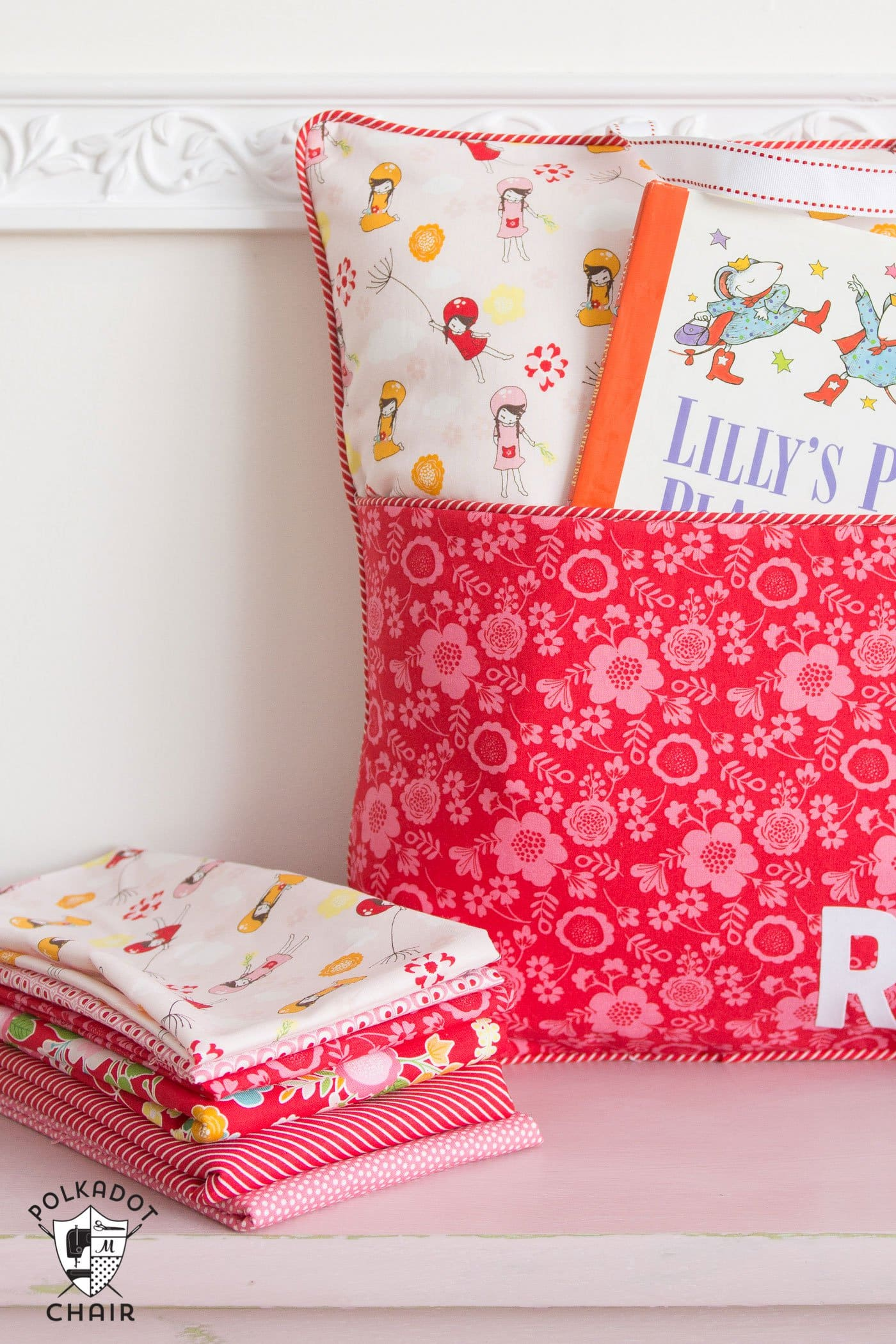 Throw Pillow Sewing Instructions : How to Sew a Reading Pocket Pillow - The Polka Dot Chair