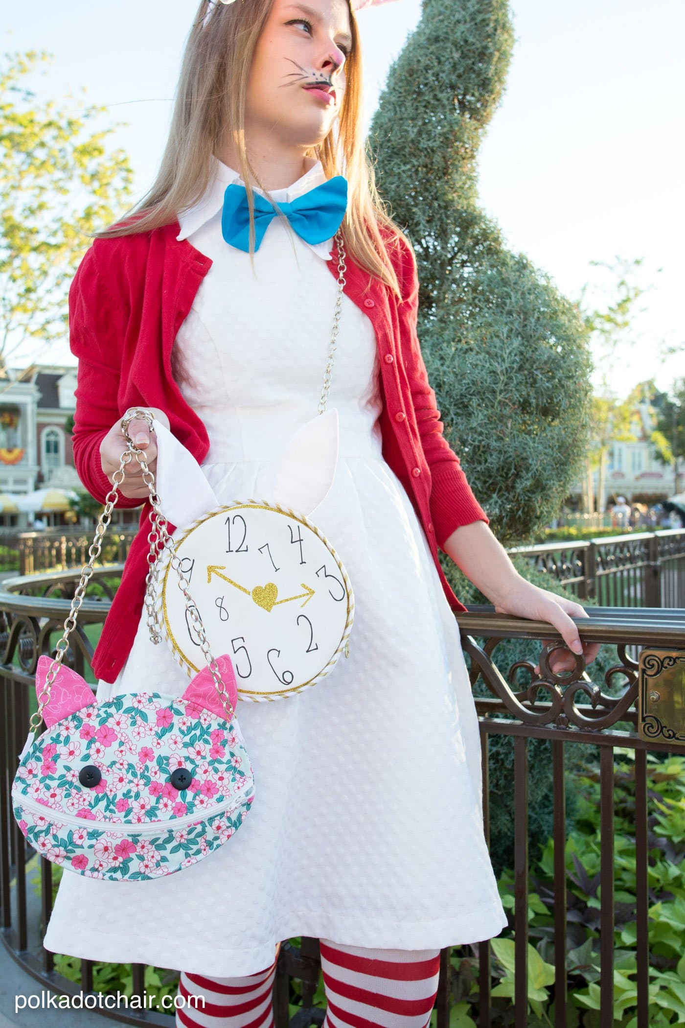 Cute ideas for No Sew Alice in Wonderland costumes, a cute last minute group costume idea