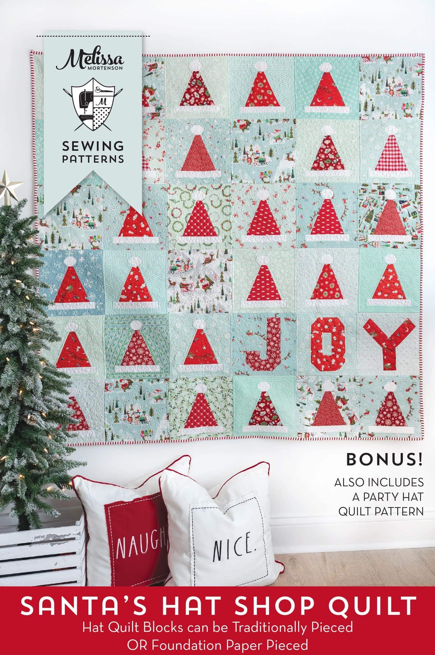 Santa S Hat Shop Christmas Quilt Pattern The Polka Dot Chair