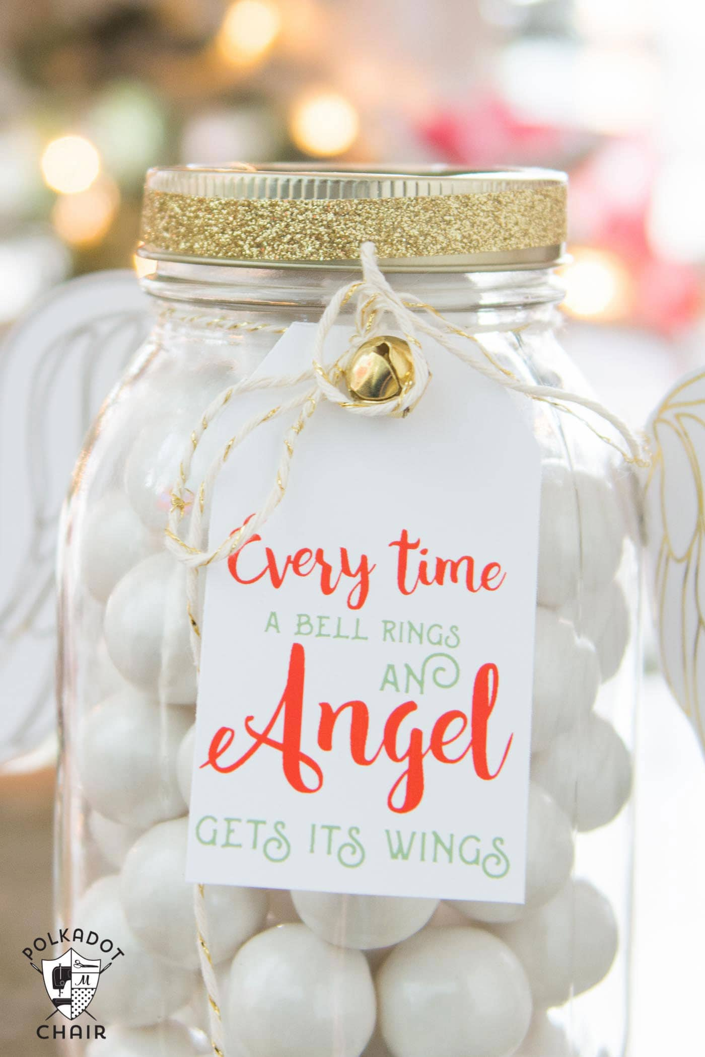 Angel Christmas Mason Jar Gifts - The Polka Dot Chair