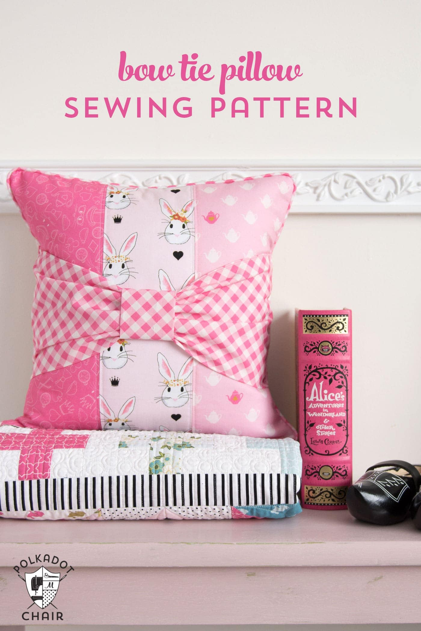 Bow Tie Pillow Sewing Pattern