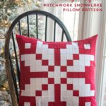 Norwegian Inspired Patchwork Snowflake Pillow