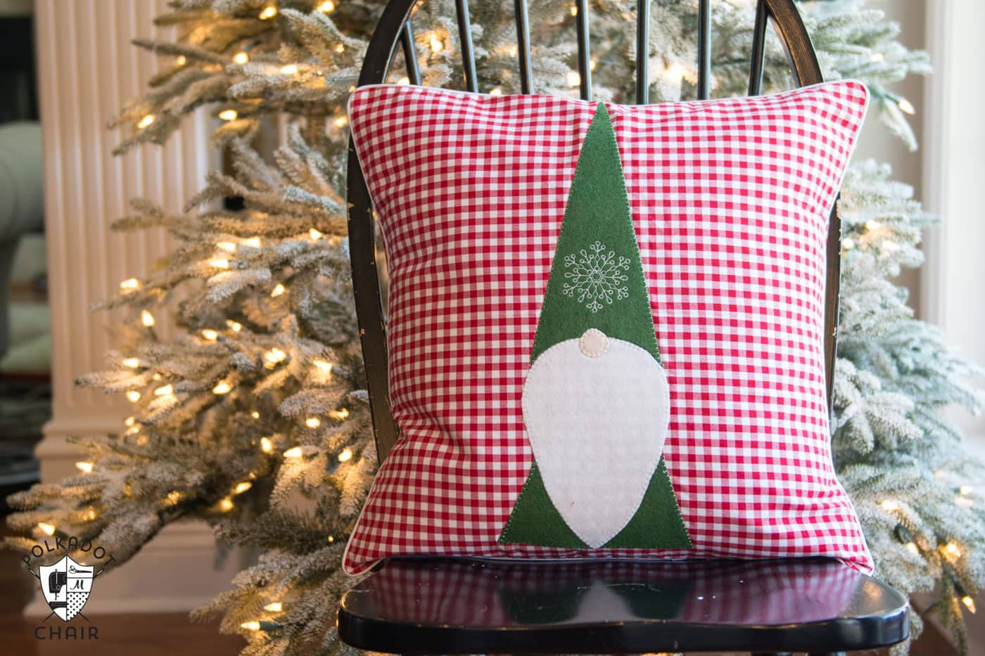 Tomte Christmas Gnome Pillow Pattern - The Polka Dot Chair