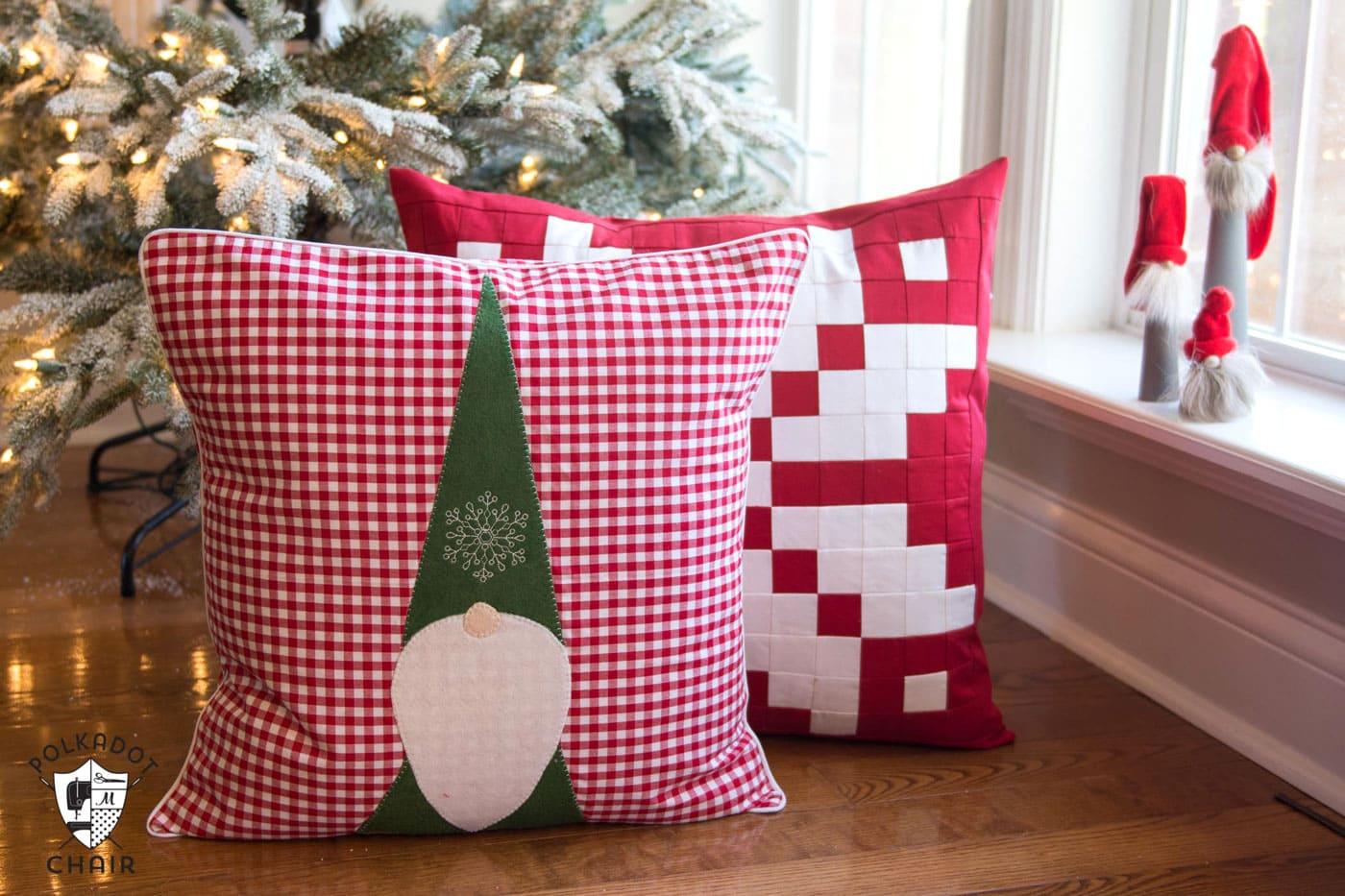 Ideal Tomte Christmas Gnome Pillow Pattern - The Polka Dot Chair XA75