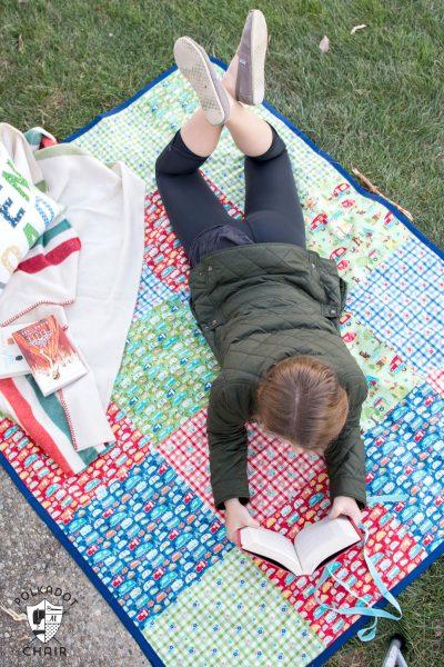 waterproof-picnic-blanket-diy-sew - The Polka Dot Chair