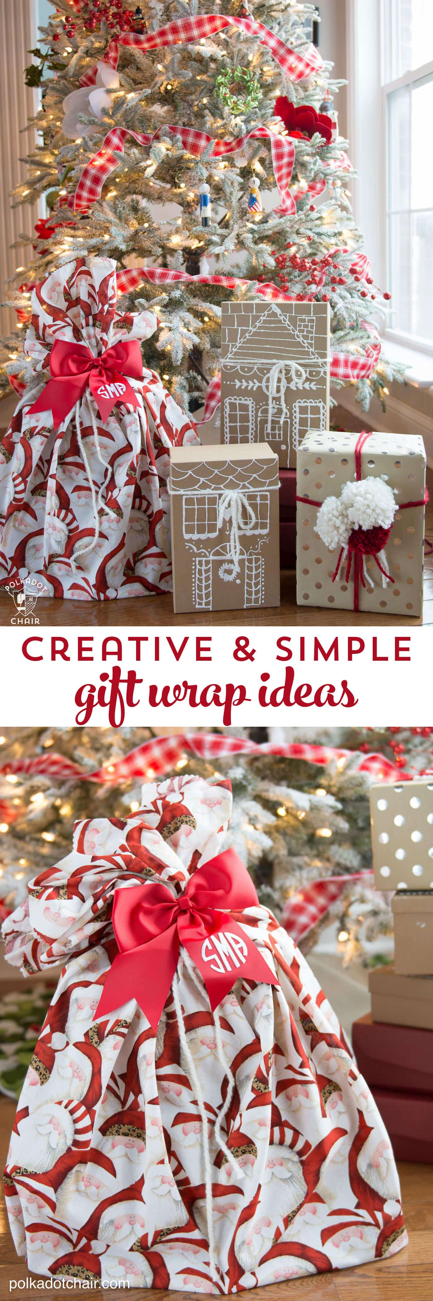 3 simple and creative gift wrap ideas the polka dot chair for Creative christmas ideas
