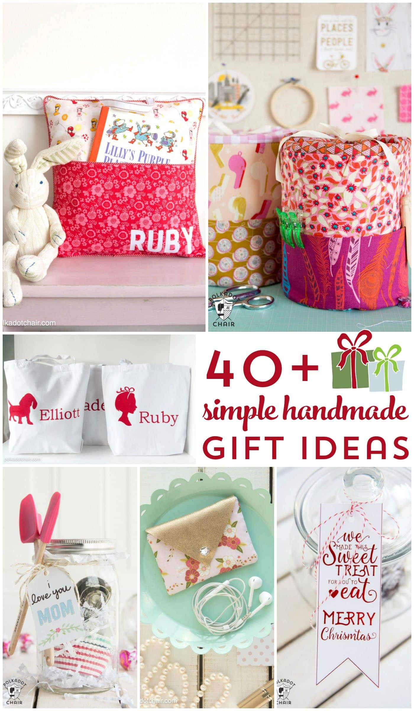 More than 40 Simple Handmade Gift Ideas - The Polka Dot Chair