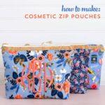 Fat Quarter Zip Pouch Sewing Pattern