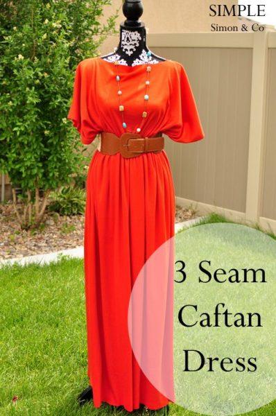 3 seam caftan by Simple Simon & Co.