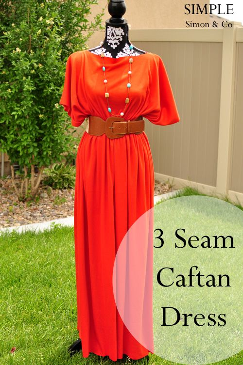 3 seam caftan by Simple Simon & Co.