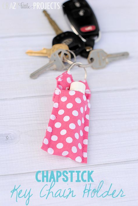 Keychain Chapstick holder by crazylittleprojects.com