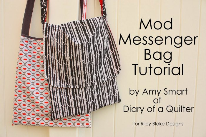 Mod Messenger Bag Tutorial from diaryofaquilter.com