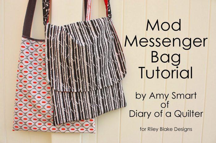 Mod Messenger Bag Tutorial from diaryofaquilter.com