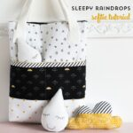 Sleepy Raindrops; a free softie sewing pattern