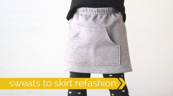 Sweatpants to Skirt Refashion by itsalwaysautumn.com