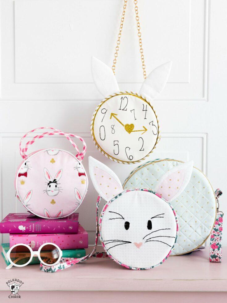 Alice Bag Round Handbag Sewing Pattern | Digital PDF Pattern