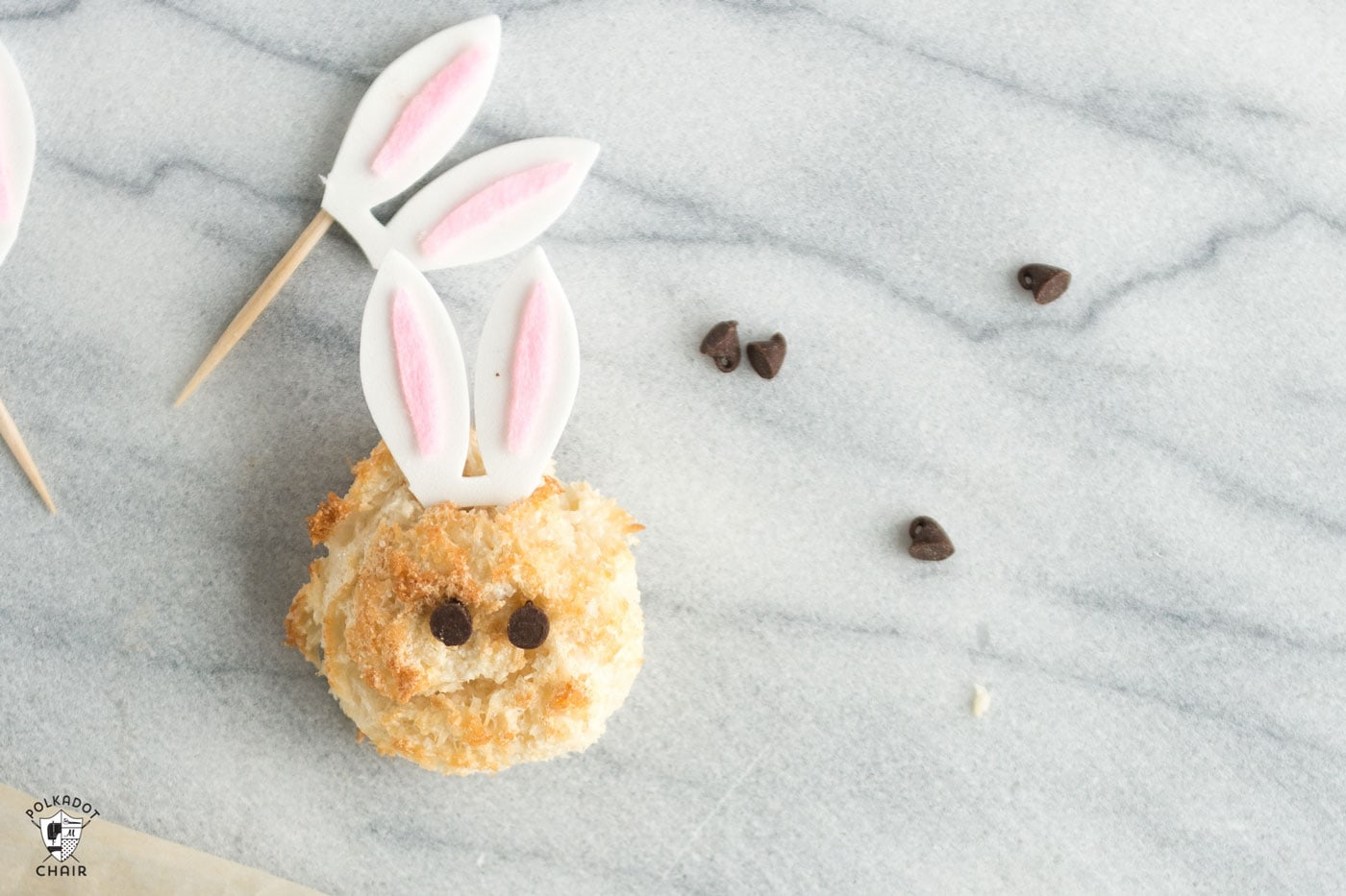 Recipe for Sugar Free Macaroons that look like Easter Bunnies. A cute recipe and Easter dessert idea