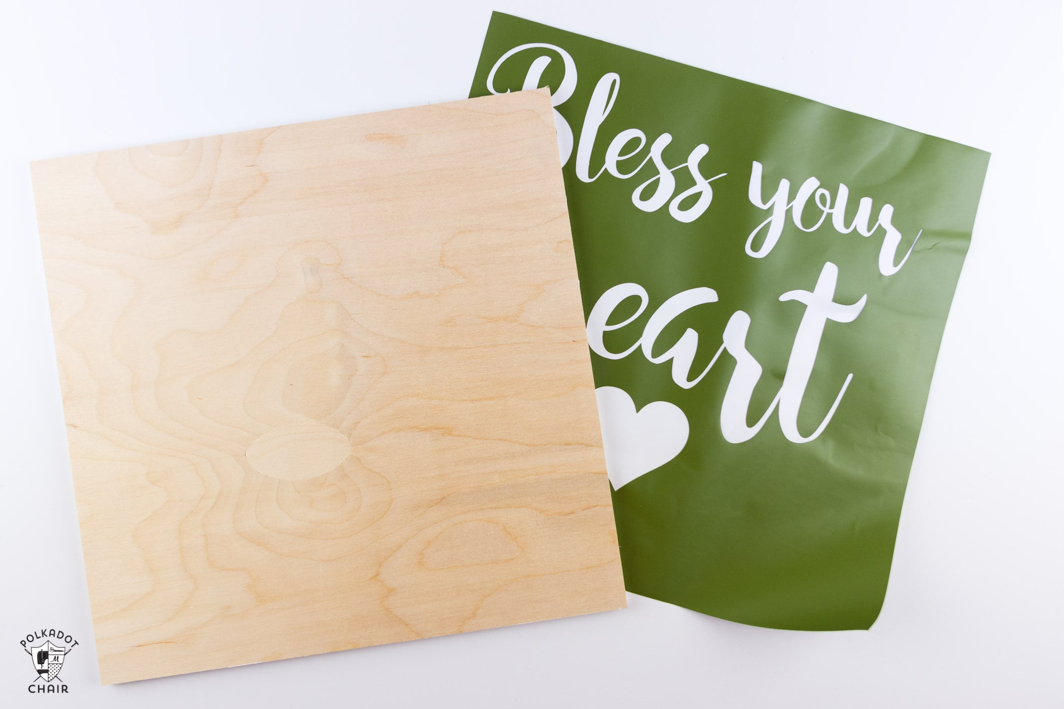 """How to make a hand painted wood sign- This """"Bless your Heart"""" sign is such a cute craft idea for Valentine's Day or for everyday!"""