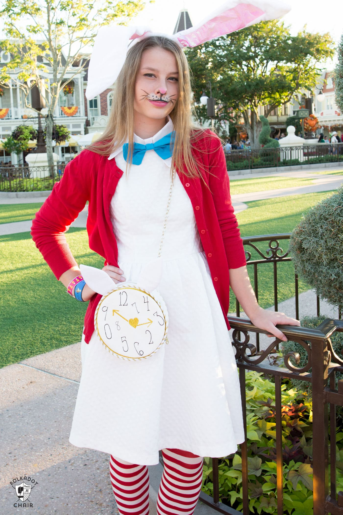 A Whimsical And Versatile Purse Sewing Pattern Featuring Bunny Sc 1 St The Polka Dot Chair. image number 3 of white rabbit costume diy ...