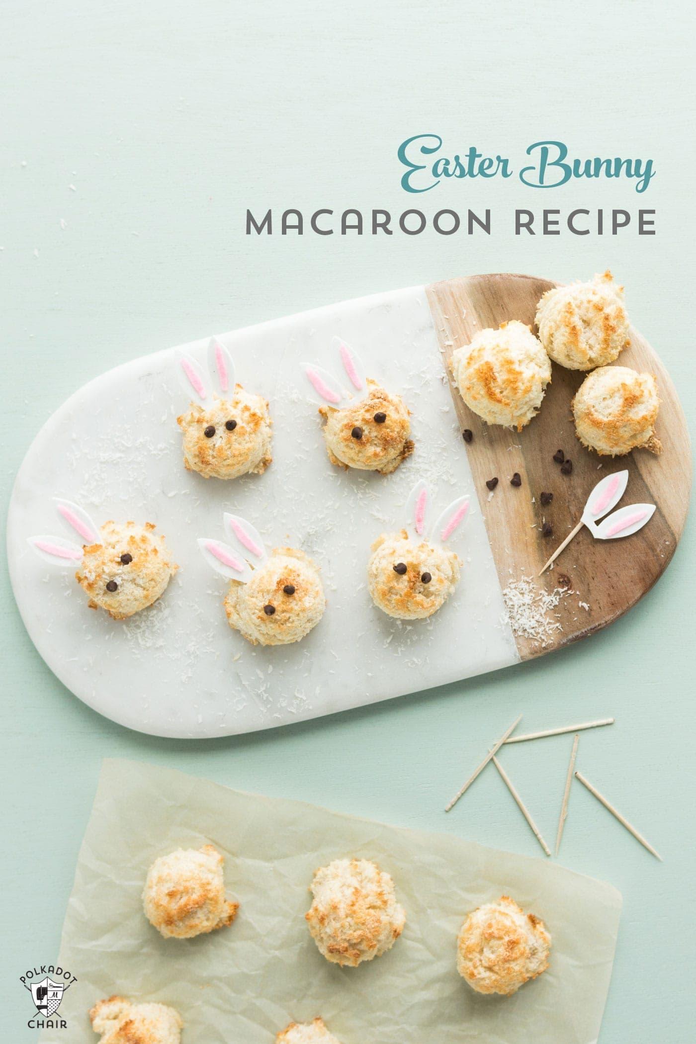 Easter Bunny Sugar Free Coconut Macaroon Recipe