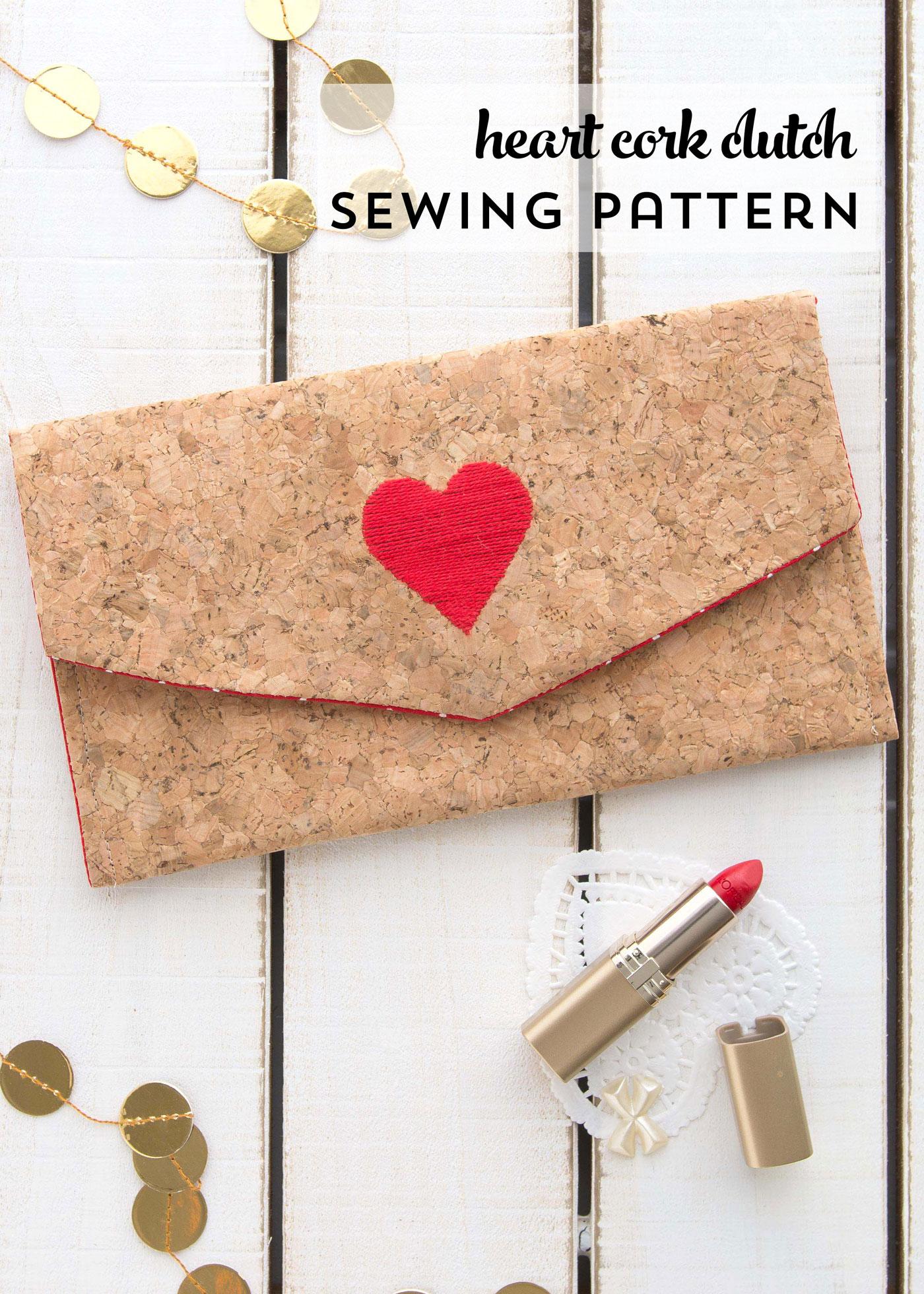 DIY Cork Clutch Sewing Pattern by Melissa Mortenson for JoAnn Stores