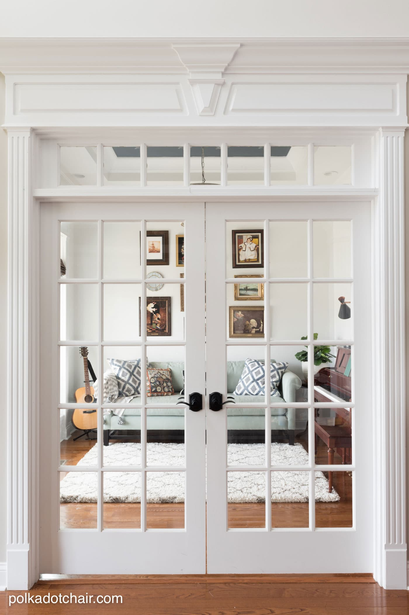 Before after simple room refresh with lots of diy for French door decorating ideas