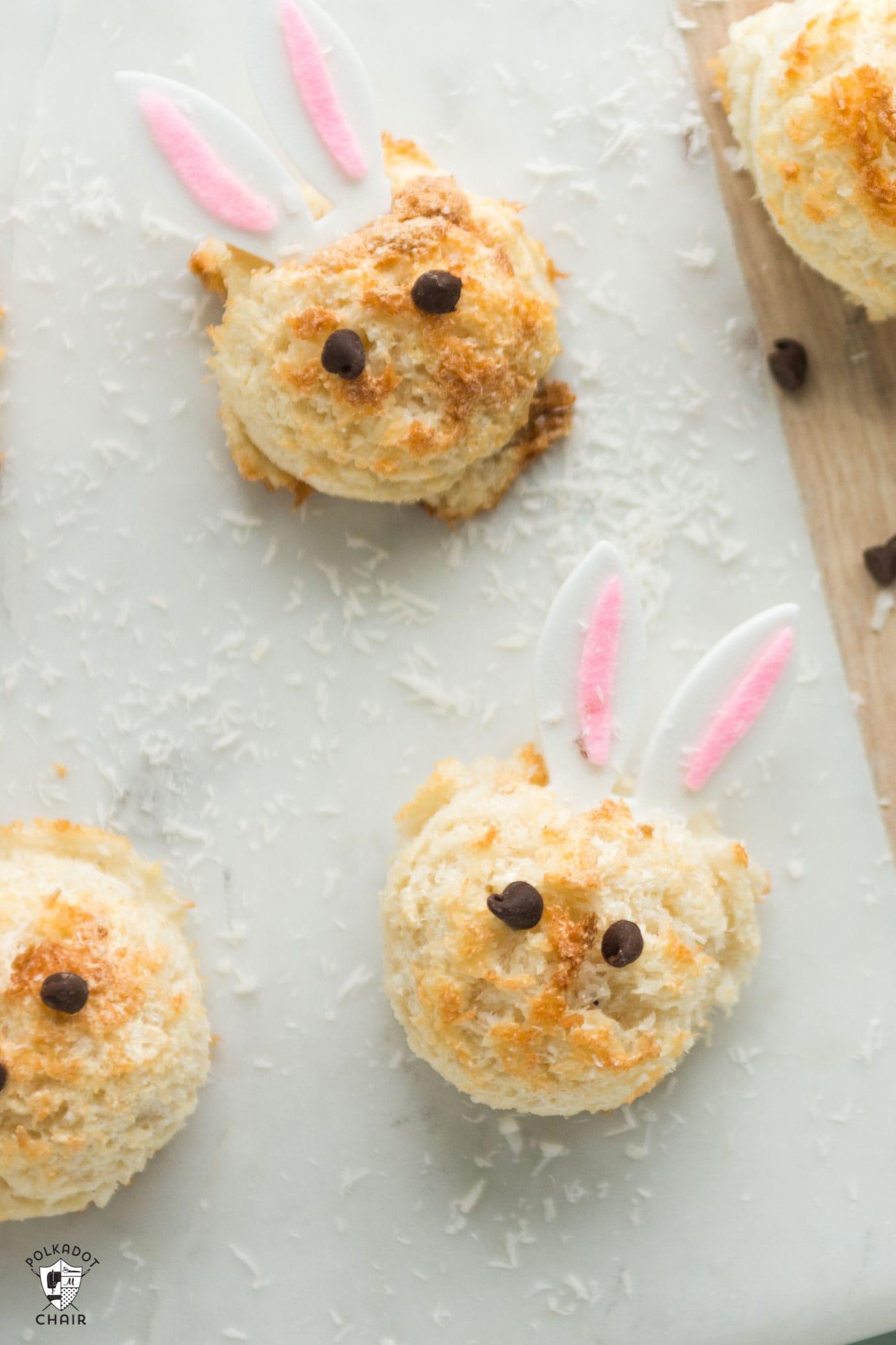 Easter Bunny Sugar Free Coconut Macaroon Recipe The