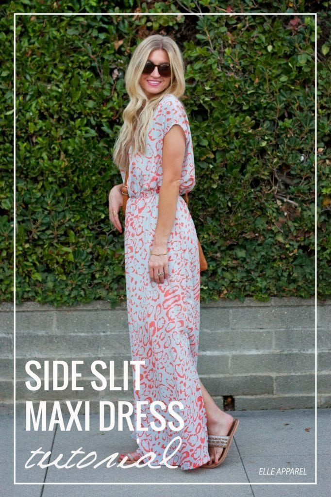 Side Slit Maxi Dress Tutorial - with sleeves
