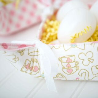 Fabric Basket Sewing tutorial by Simple Simon and Co. featuring Wonderland Two Fabric