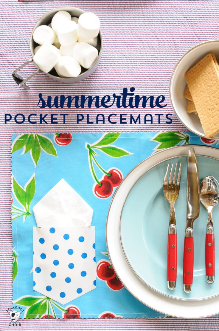 How to make Oilcloth Placemats with a Pocket