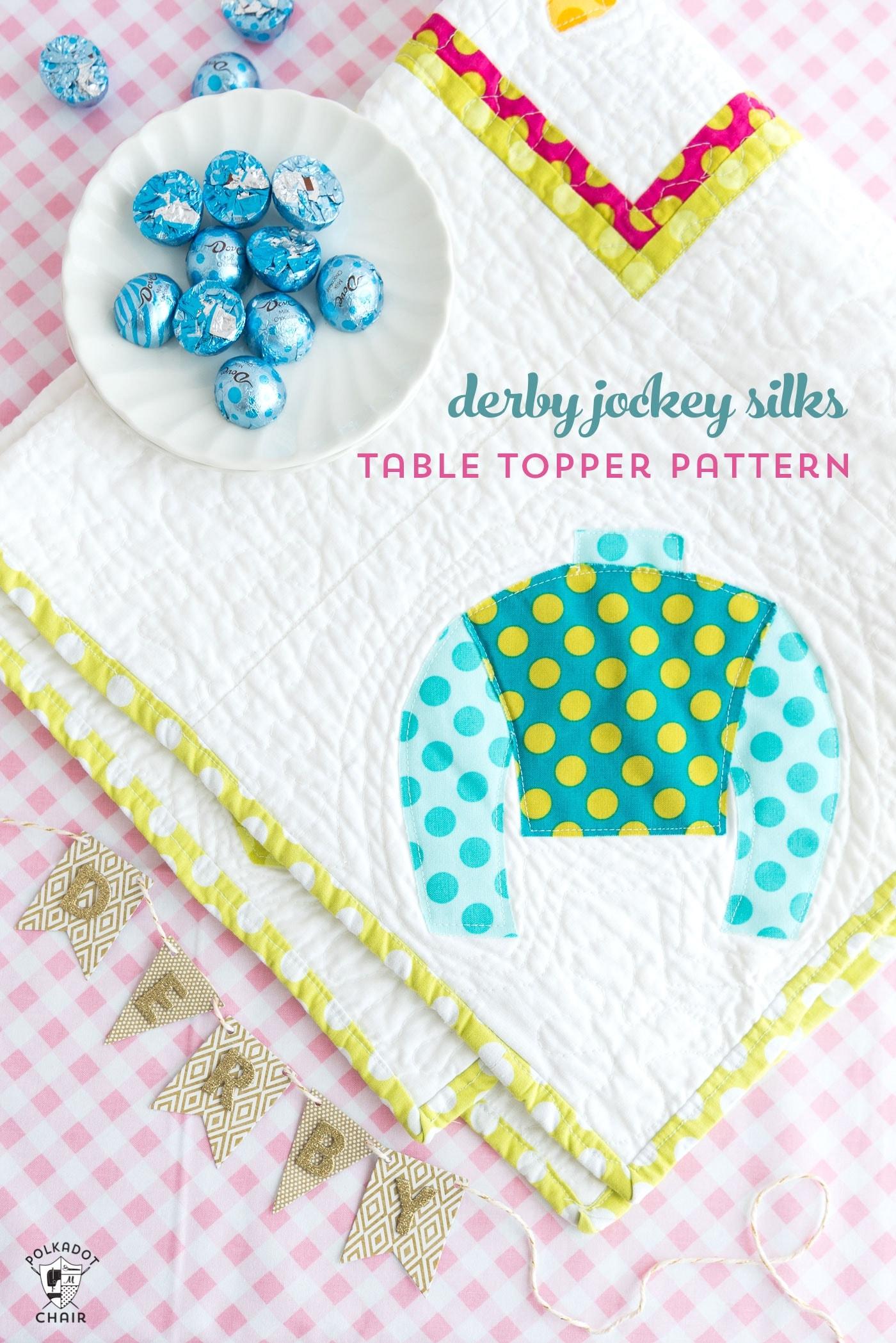 Jockey Silks Table Topper Pattern A Diy Derby Project