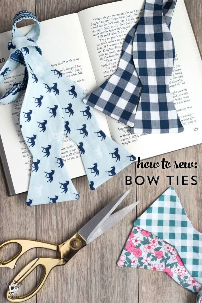 How to Sew a Bow Tie that ties! - The Polka Dot Chair
