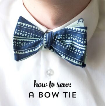 How to Sew a Bow Tie that ties!