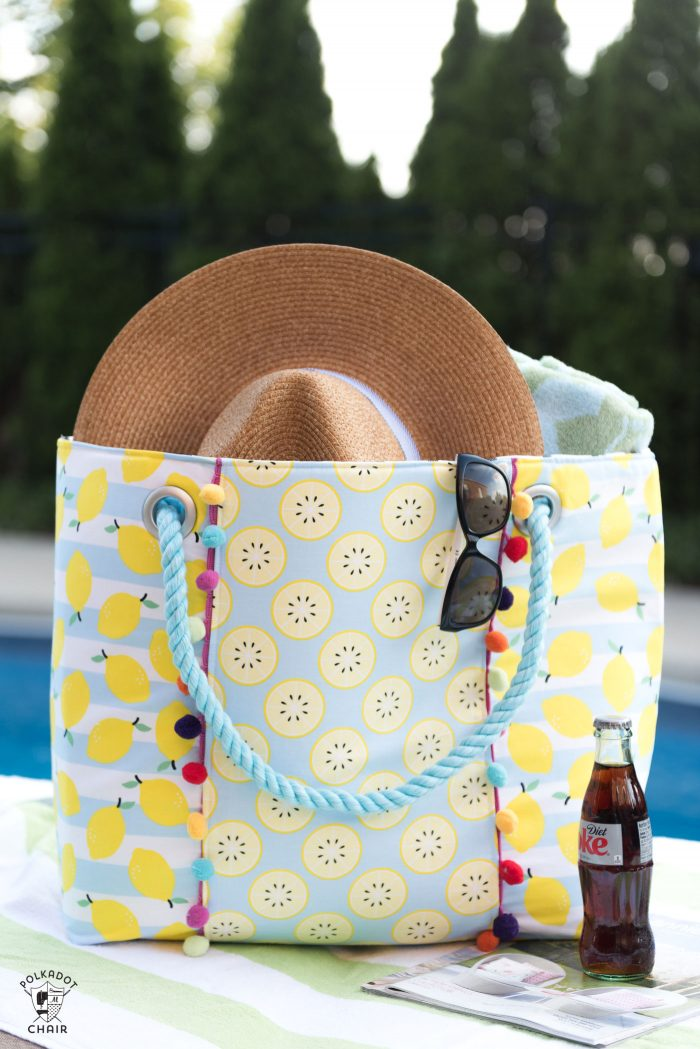 Oversized Beach Bag Sewing Pattern The Polka Dot Chair