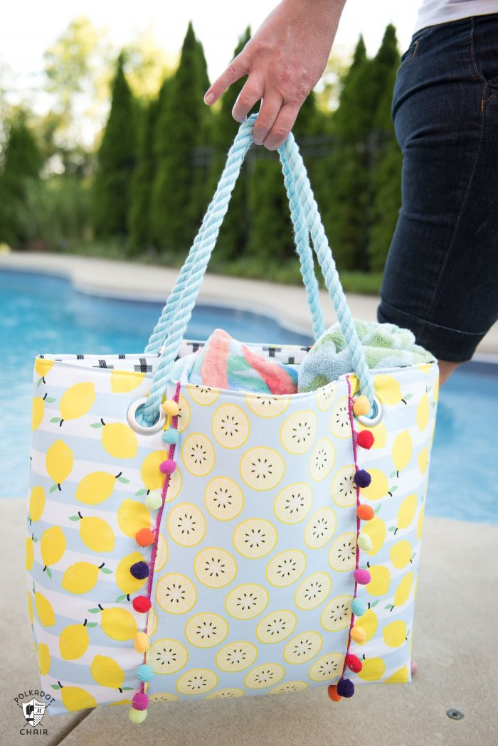 Oversized Beach Bag Sewing Pattern - The Polka Dot Chair