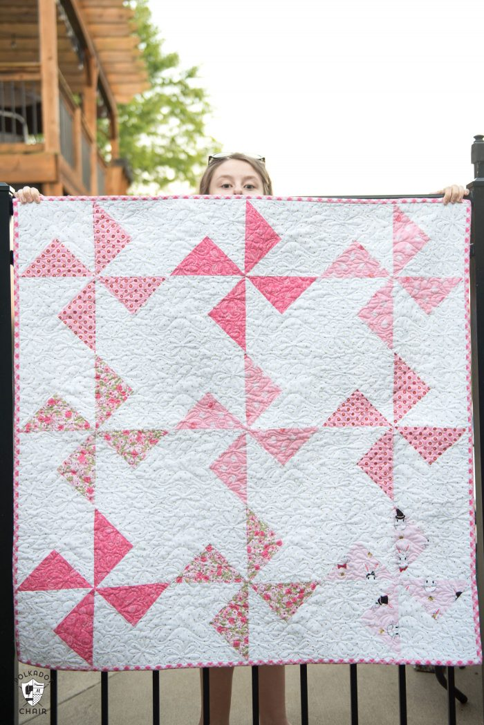 Quilt Patterns To Make In A Day : Free Baby Quilt Patterns featuring simple Turnstile Quilt Blocks! - The Polka Dot Chair