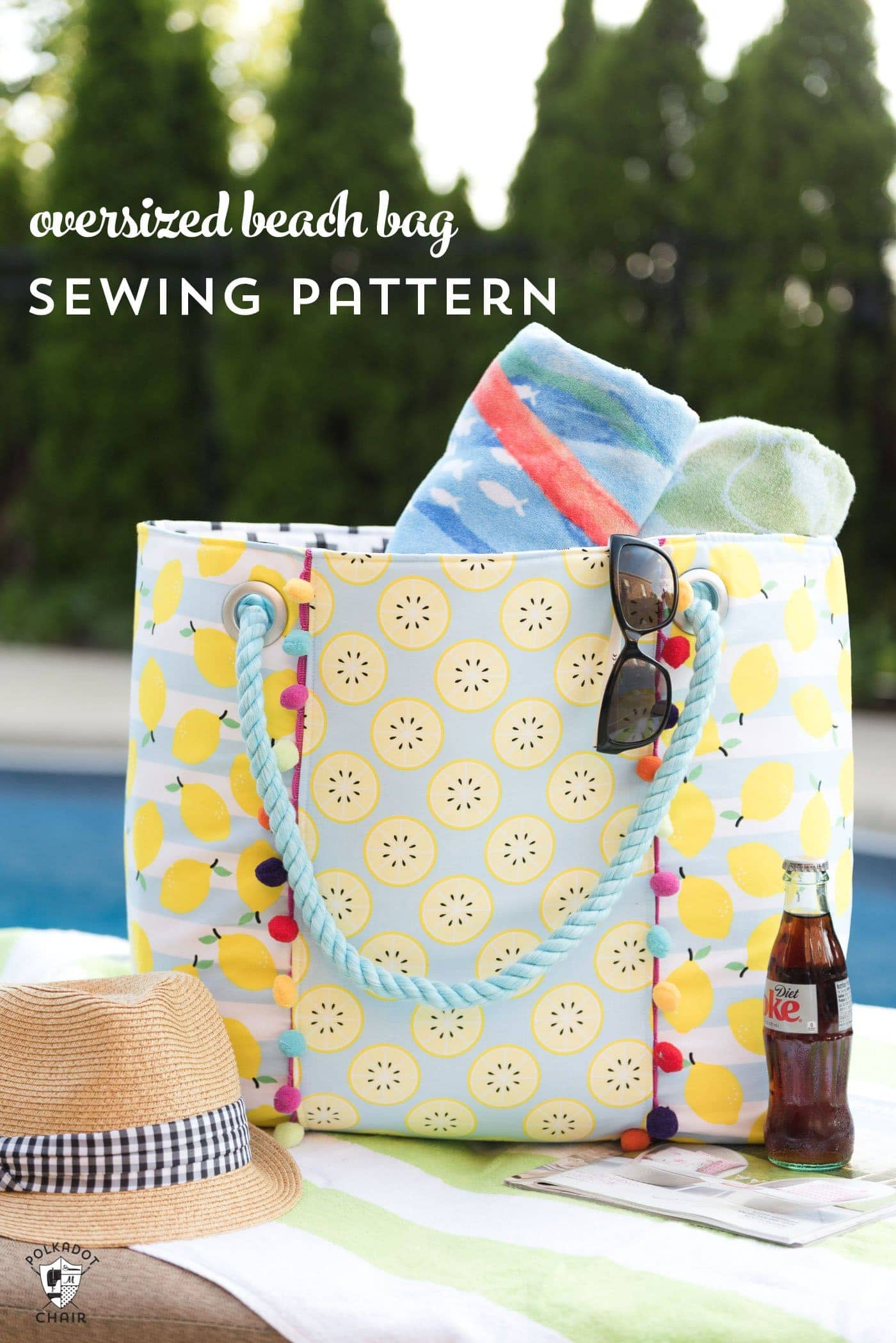 Oversized beach bag sewing pattern the polka dot chair jeuxipadfo Gallery