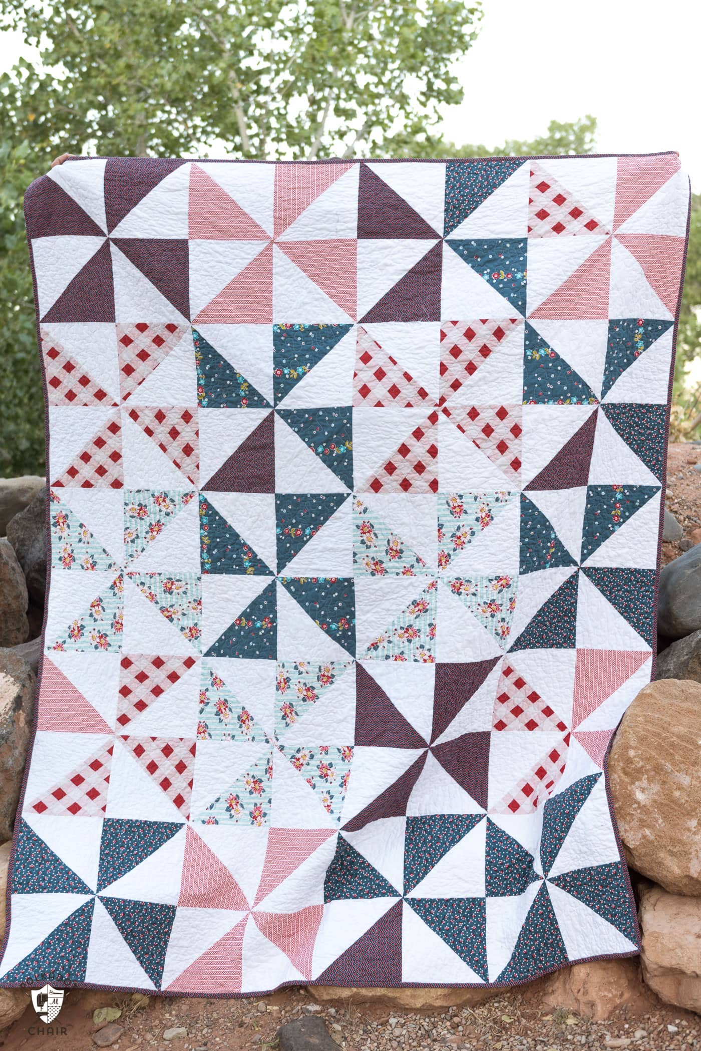 Red White Blue Quilt Ideas The Polka Dot Chair