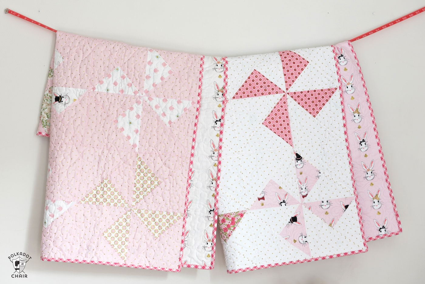 Free Baby Quilt Patterns featuring simple Turnstile Quilt Blocks ...