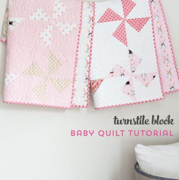 Free Baby Quilt Patterns featuring simple Turnstile Quilt Blocks!