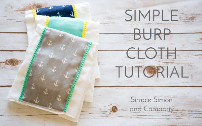 How to make burp cloths using double gauze fabrics