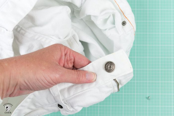 How to fix a broken jeans button - such a simple and easy fix!!