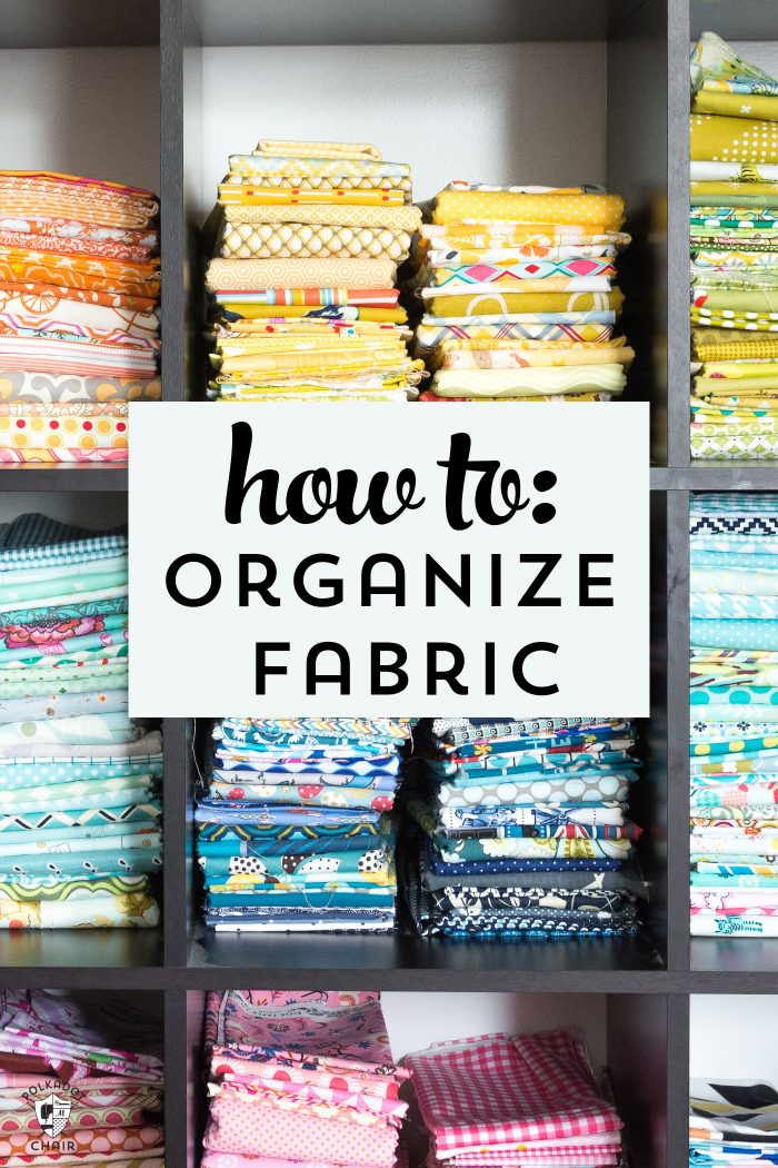 Sewing Room Fabric Shelving Ideas