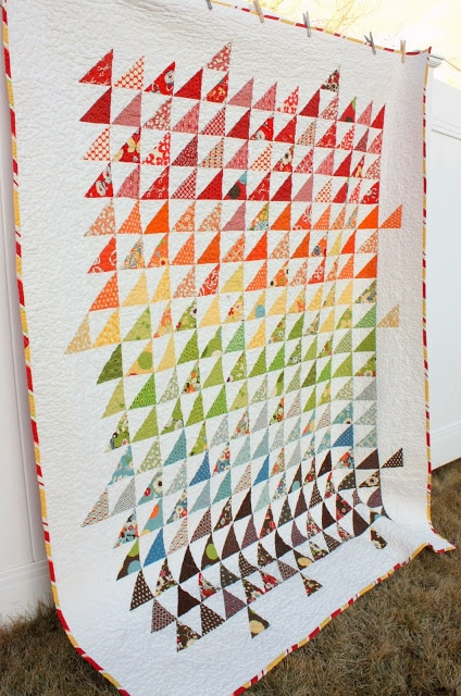 Half Square Triangle Quilt by Diary of a Quilter