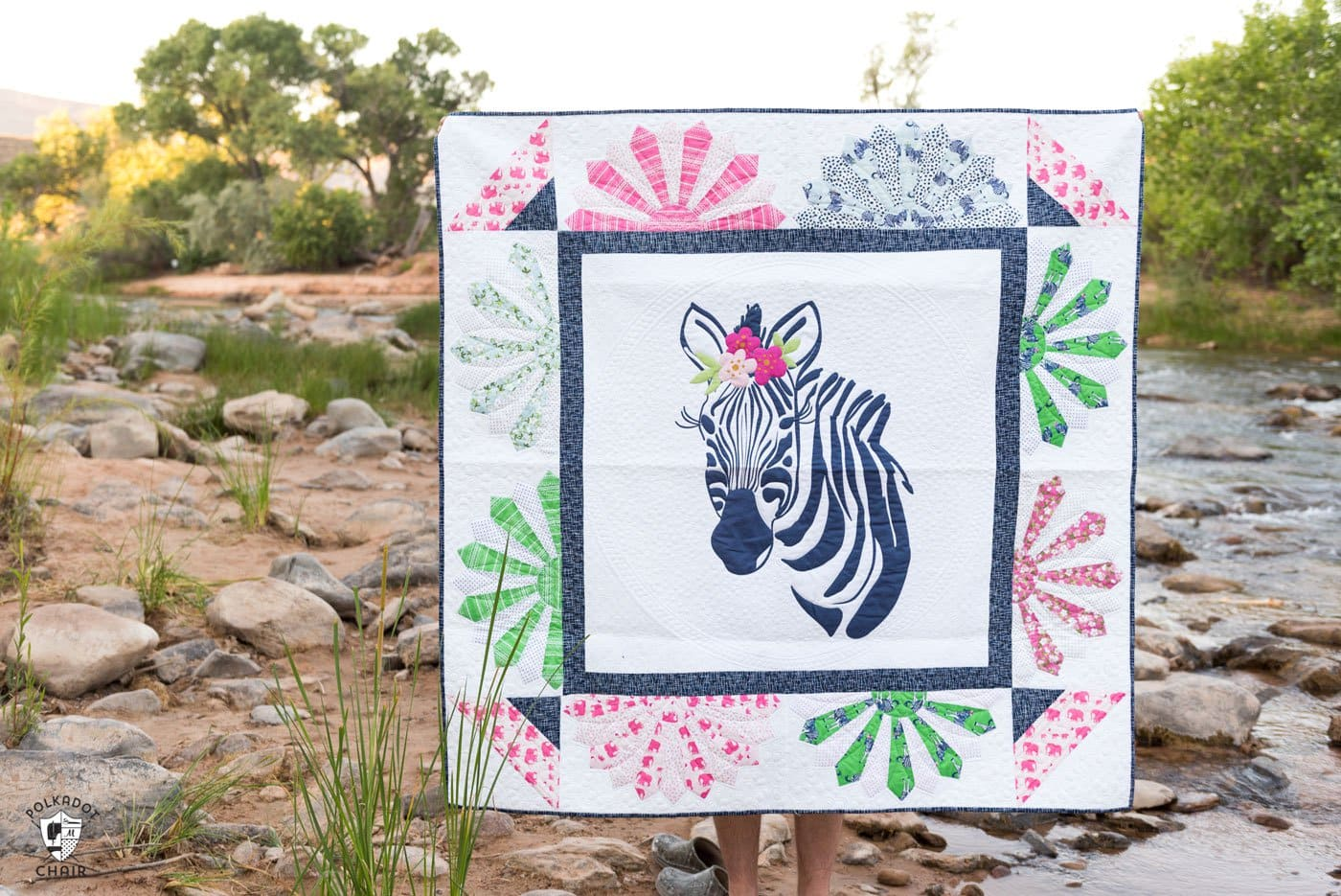 Introducing Zinnia The Zebra Quilt Pattern The Polka Dot