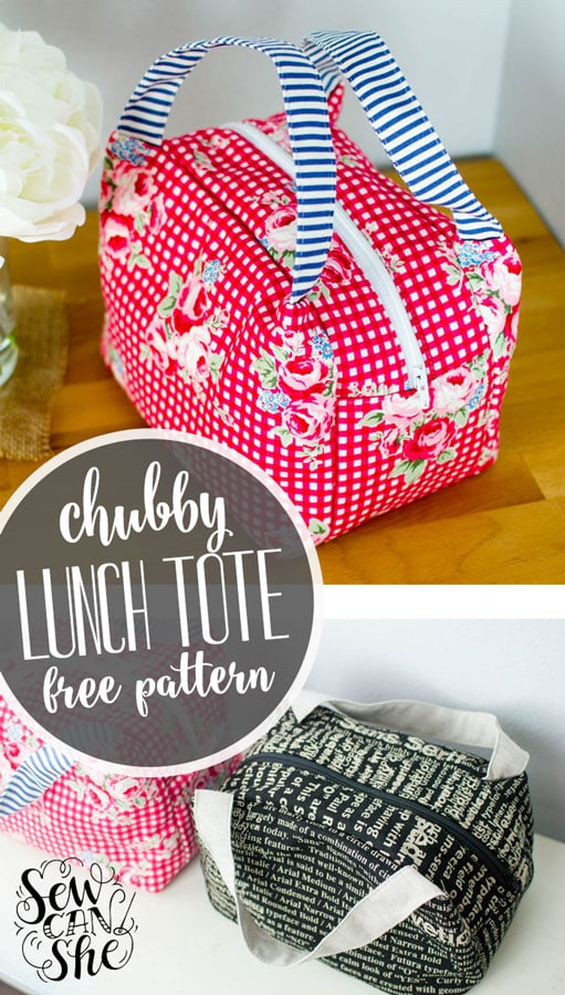 Chubby Lunch Tote Sewing Pattern