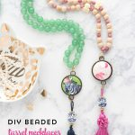 DIY Beaded Tassel Necklace Tutorial