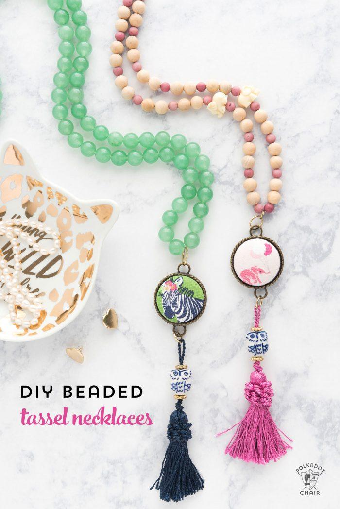 DIY Beaded Tassel Necklace Tutorial