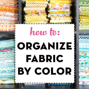 Fabric organized by color