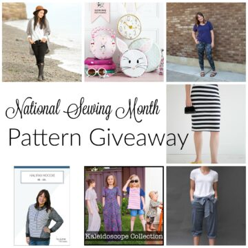 National Sewing Month Sewing Patterns Giveaway